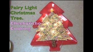 Fairy Light Christmas Tree cheekyricho cooking edible 3 ingredients kids party recipe ep. 1,183