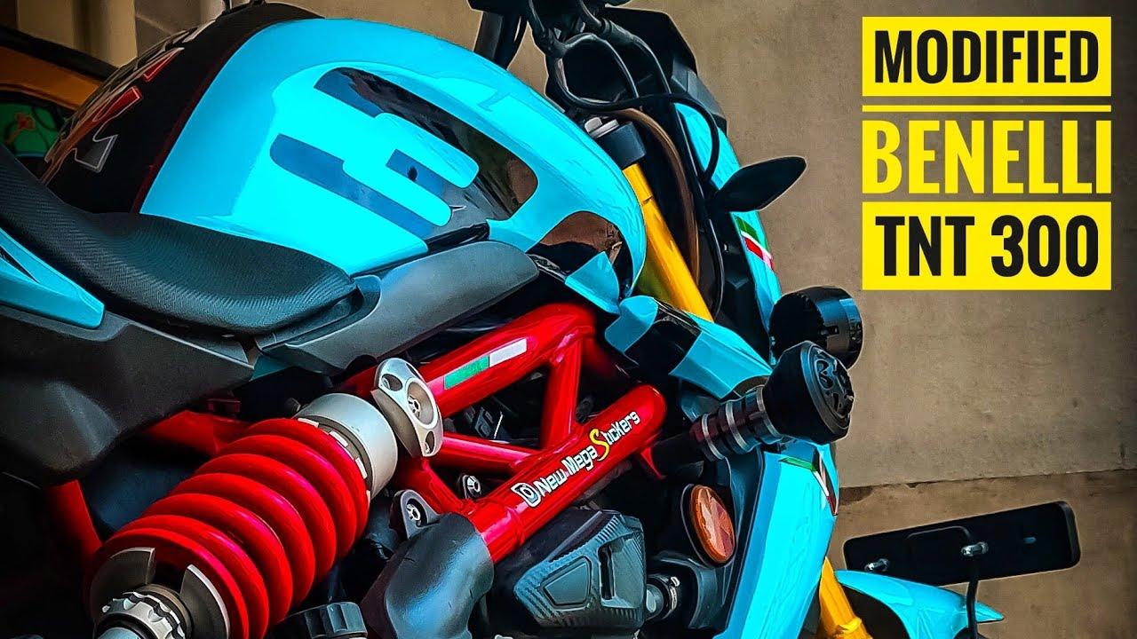 Modified Benelli TNT 300 | Benelli wrapping & stickers | Ducati rear mudguard |  ARK Diaries