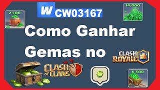 Como ganhar Gemas no Clash of Clans e Clash Royale (Whaff Rewards) atualizado 2018