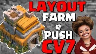 LAYOUT CV7 de FARM/PUSH com 3 DEFESAS AÉREAS - Clash of Clans