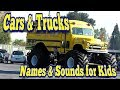 Learn Street Vehicles Names and Sounds for Kids | Monster Trucks for Children | Cars and Trucks