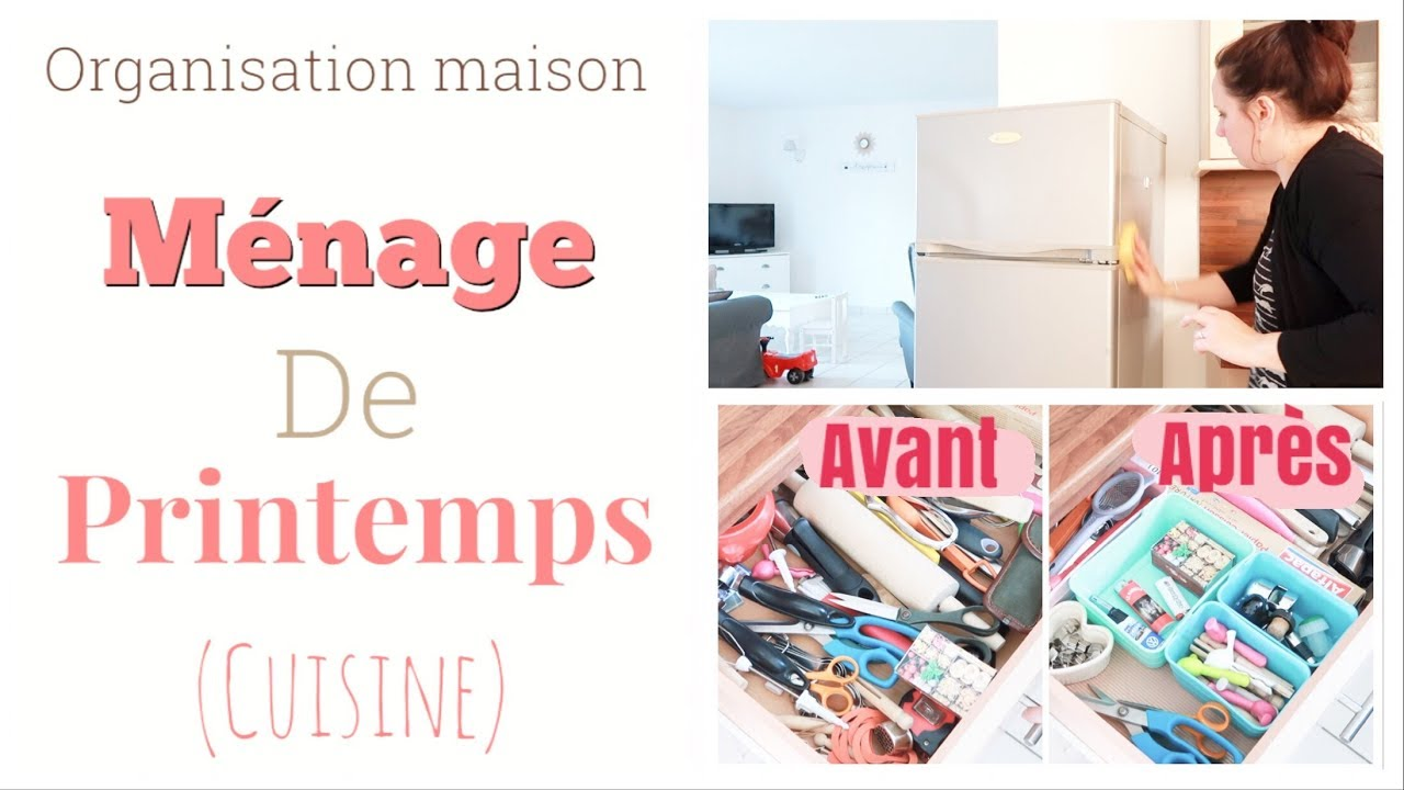 organisation maison m nage printemps cuisine youtube. Black Bedroom Furniture Sets. Home Design Ideas
