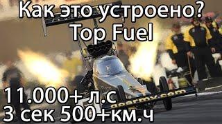 Как Устроен Самый Мощный Дрэгстер Top Fuel 11.000 Л.С !