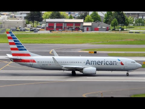 American Airlines Boeing 737-800 [N967AN] Takeoff From PDX