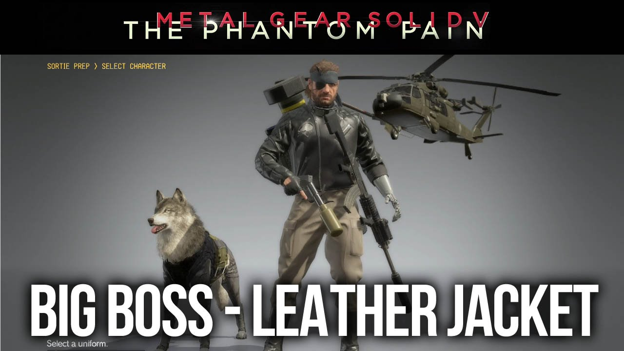 Metal Gear Solid 5 The Phantom Pain Leather Jacket Uniform Unlock And Gameplay
