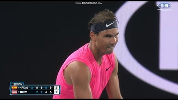 Nadal vs Thiem Match Tie Break Australian Open 2020