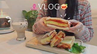 ENG) 남자친구와 타코야끼 만들어 먹고 토스트 만들어…