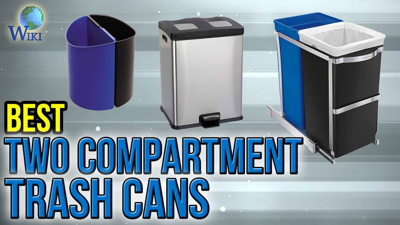 8 Best Two Compartment Trash Cans 2017 - YouTube