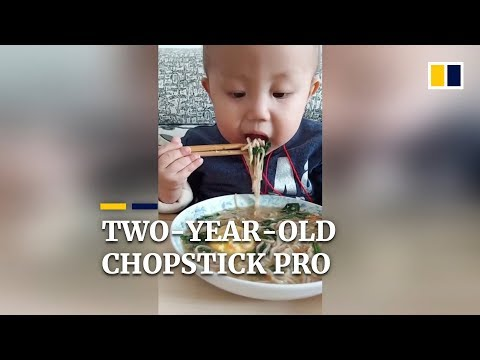 Two-year-old chopstick pro's sad story in China