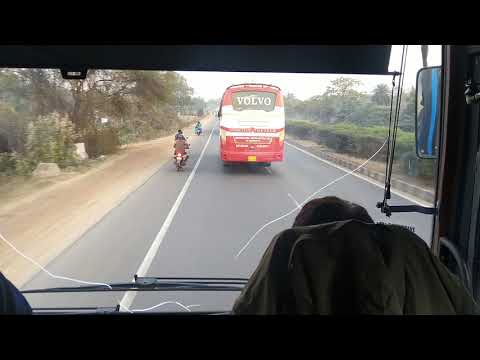 Volvo bus in Highway traffic || WBTC 9100
