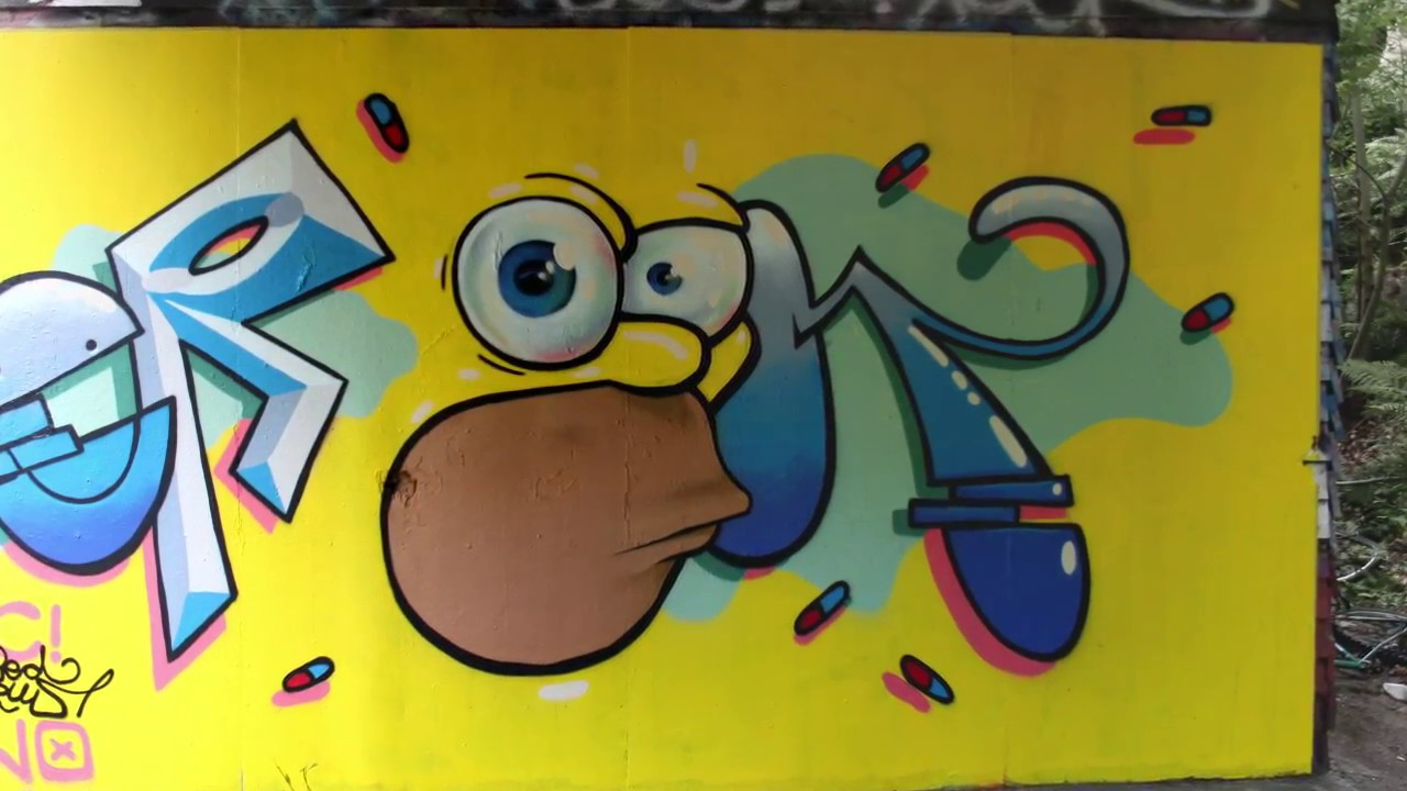Homer Simpson Graffiti Crooked Octopus Gopro