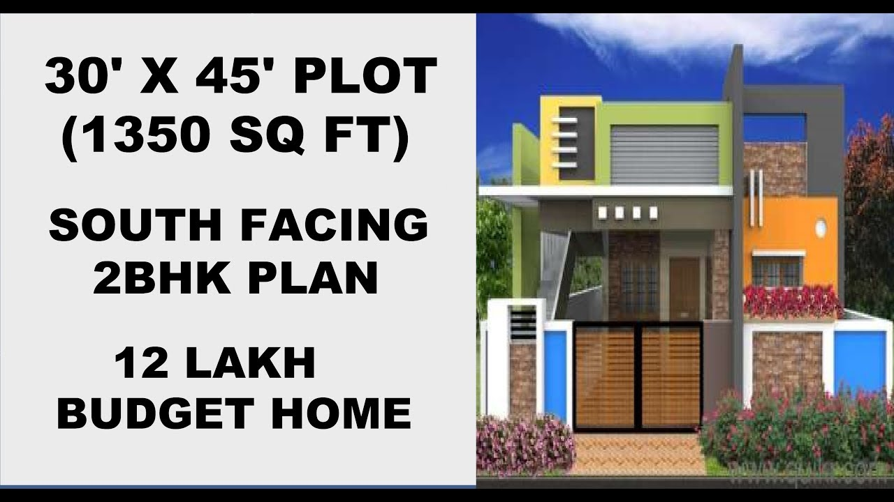 House Plan For 30 X 45 South Facing Home Plans Low Budget Home Vastu Plan Explained In Tamil Youtube