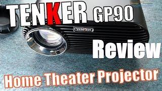 TENKER GP90 LCD Beamer   Test Review -  Hands-on (Deutsch)