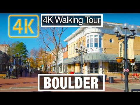 4K City Walks: Boulder, Colorado (Peoples Republic Of) Downtown - Virtual Walk Treadmill City Guide