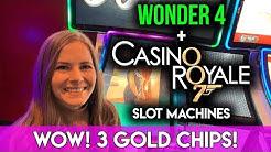 BIG WIN!! James Bond Casino Royal Slot Machine! Awesome BONUS!!