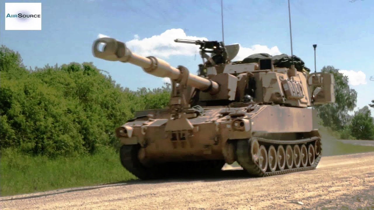M109 Self-propelled Howitzer Move and Set Up Firing Point
