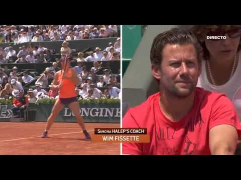 Sharapova vs Halep  -  Roland Garros 2014 -  Final