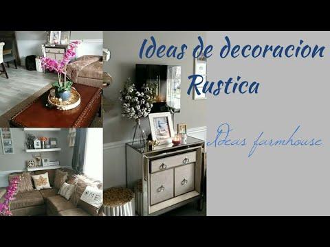 Ideas de decoracion de sala rustico/ como decorar un comedor ...
