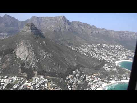 Cape Town from the air by helicopter