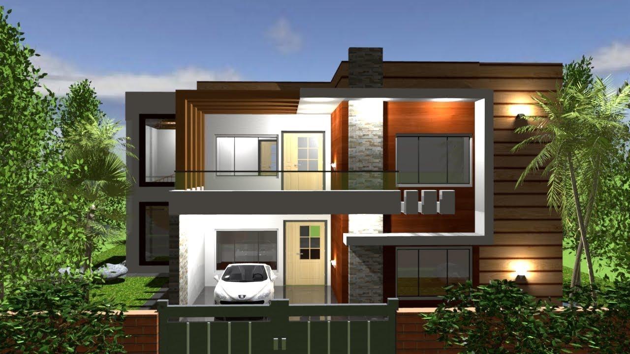 A Beautiful Modern Duplex House Plan 4 Bedroom 3d Walk Through Youtube