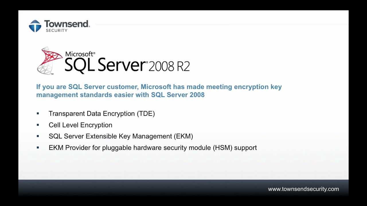 Blog | Townsend Security | Transparent Data Encryption (TDE)