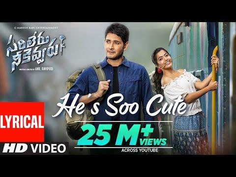 He's Soo Cute  Song   Al | Sarileru Neekevvaru | Mahesh Babu, Rashmika,anil Ravipudi | Dsp