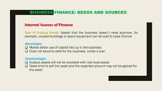 Grade-11 (O Level) Business Studies Lesson 2 Business Finance