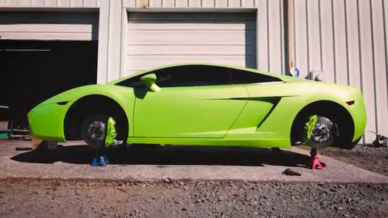 Lamborghini Gallardo Brake Caliper Painting Charlotte Nc Youtube