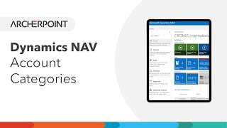 Dynamics NAV - Account Categories