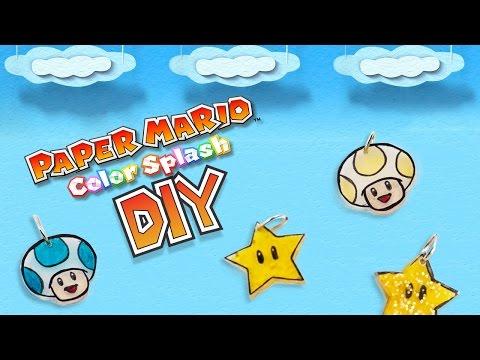 Paper Mario: Color Splash Shrink Charms DIY