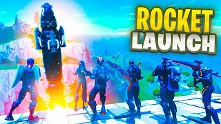 SECRET FORTNITE ROCKET LAUNCH + REPLAY FOOTAGE!