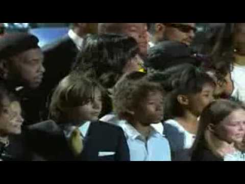 Goode words daughter Paris & We Are The World  Heal The World @ Michael Jackson Memorial HD