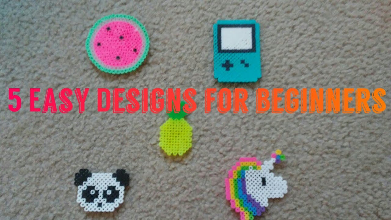 5 Super Easy Designs For Beginners Perler Beads