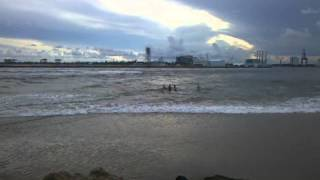 Fort Lauderdale Port Everglades Cruise Ship Wave. Mini tsunami effect
