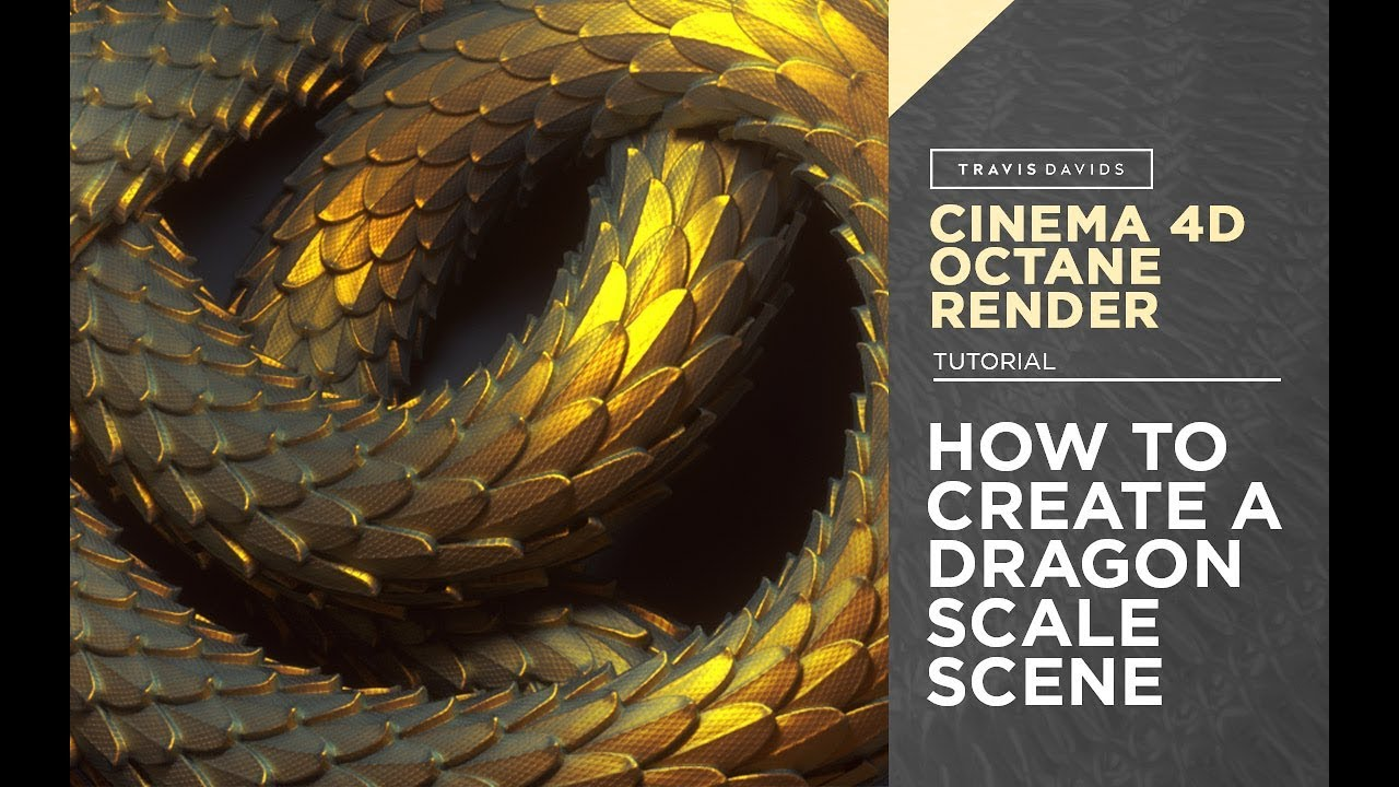Cinema 4D And Octane Render - How To Create A Dragon Scale Scene