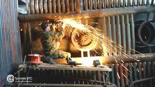 Монтажные работы в котельной. Замена топочной части котла КВГМ 50