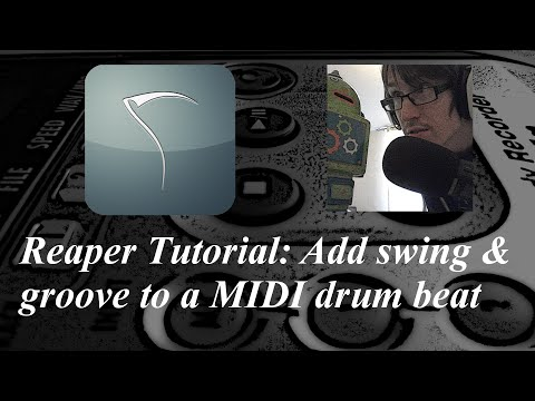 Reaper Tutorial | Add groove and swing to MIDI
