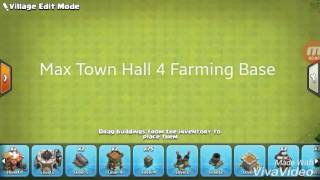 Clash of clans max Th4 farming base