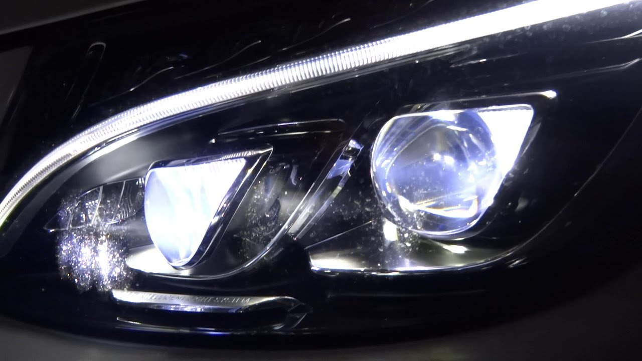 W205 Mercedes Benz C Class Led Lights Ils Test Presentation Leds Youtube