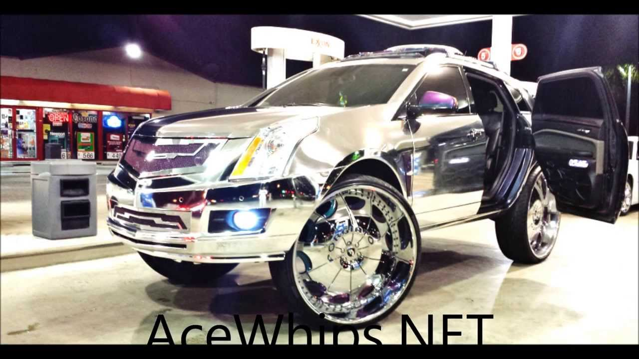 Acewhips Net Chrome Wrapped Cadillac Srx On 32 Quot Forgiatos