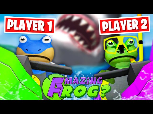 ONLINE MULTIPLAYER GIANT SHARK RACE! - Amazing Frog Part 180 | Pungence