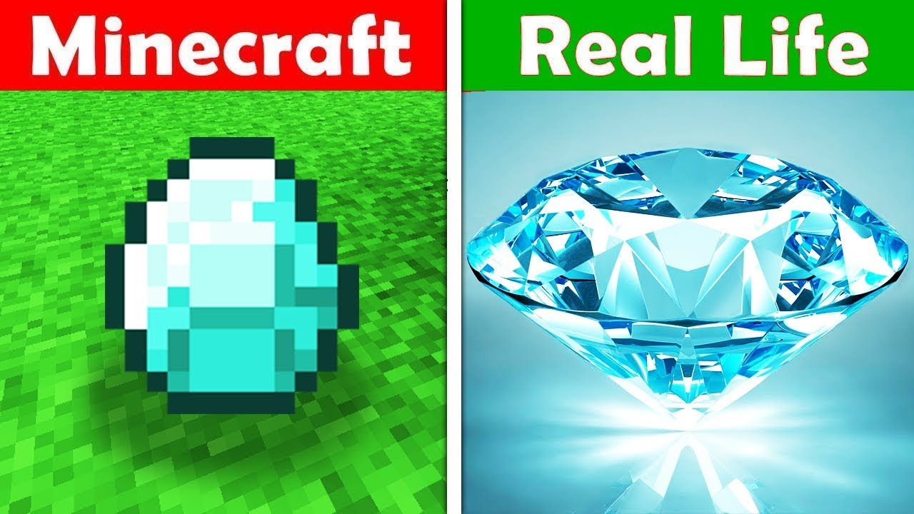 Minecraft Diamonds In Real Life Minecraft Vs Real Life Animation Youtube