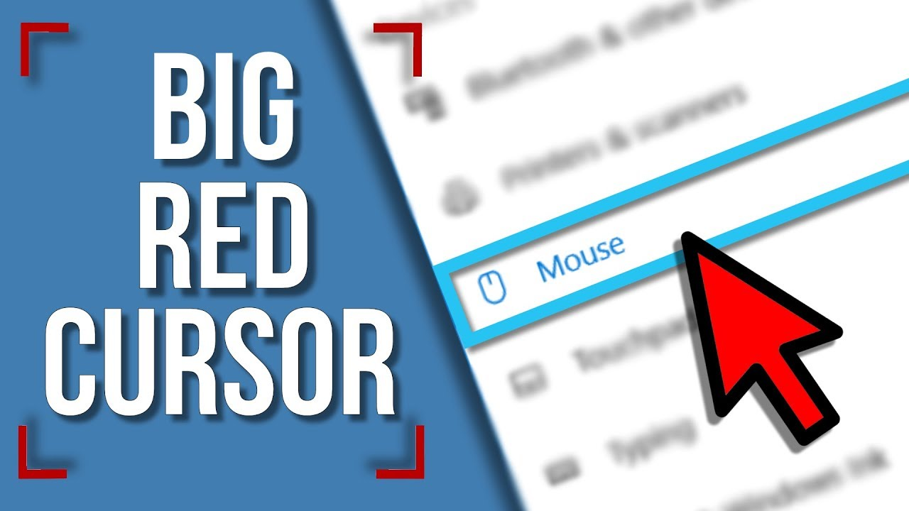 Download Big Red Mouse Pointers (step by step tutorial for Windows 10)
