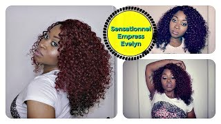 Sensationnel Empress Evelyn Lace Front Red Curly Wig DX4799 ft Mohair Fly