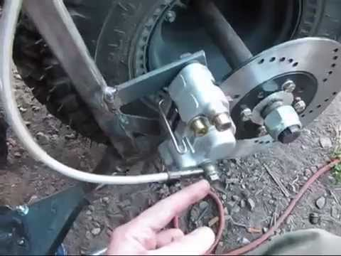 Fat Tire Mini Bike 13 New Master Cylinder Hand Brake Youtube