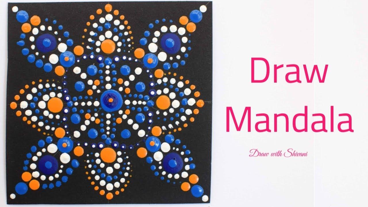 How to Draw Easy Dot Mandala Pattern/ Dot Mandala for Beginners