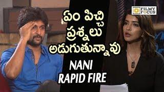 Nani Angry on Manchu Lakshmi in Live Interview || Nani Rapid Fire || Devadas Team Interview