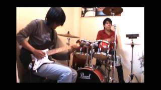 Seek and Destroy Metallica Cover Guitar and Drums Solo