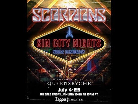 "Scorpions announce Las Vegas residency ""Sin City Nights"" with Queensryche!"