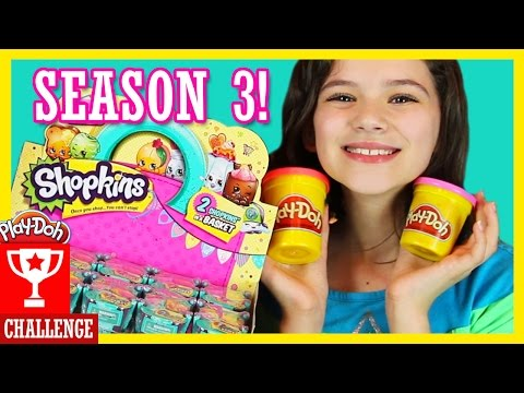 PLAY DOH CHALLENGE WITH SHOPKINS SEASON 3! | Blind basket opening! Ultra Rare! | KITTIESMAMA